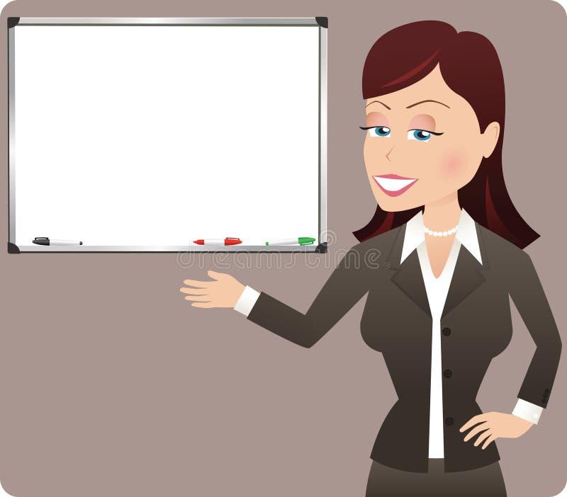 Biznesowej kobiety prezentacja royalty ilustracja