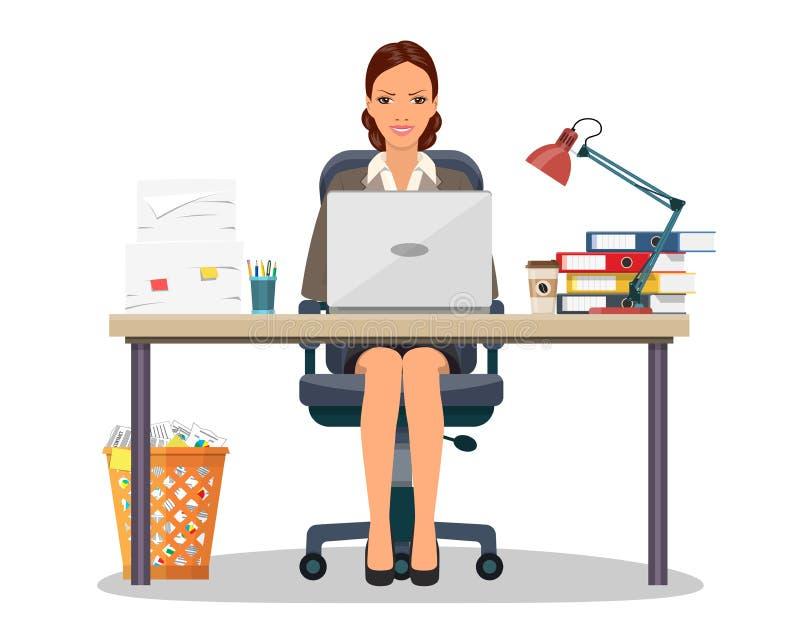 Biznesowej kobiety przedsiębiorca royalty ilustracja