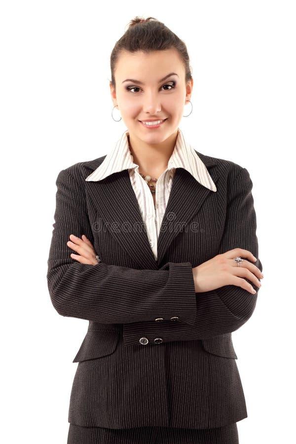 Biznesowej kobiety rozochocony atrakcyjny zdjęcie stock