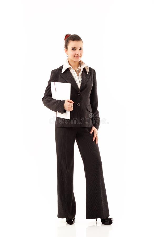 Biznesowej kobiety rozochocony działanie obrazy stock