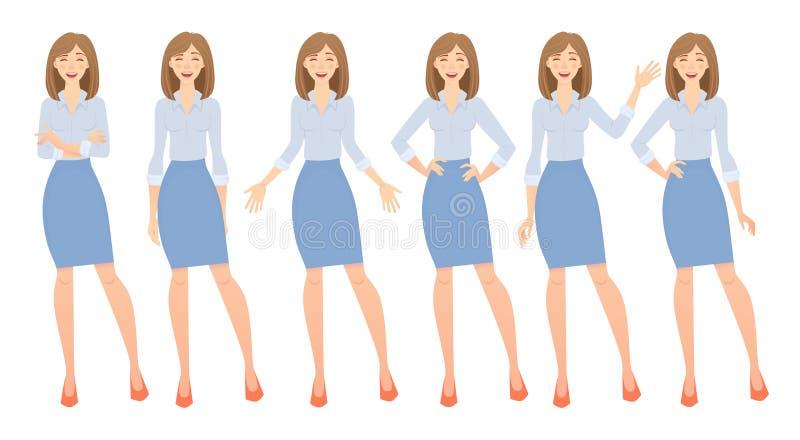 Biznesowej kobiety set royalty ilustracja