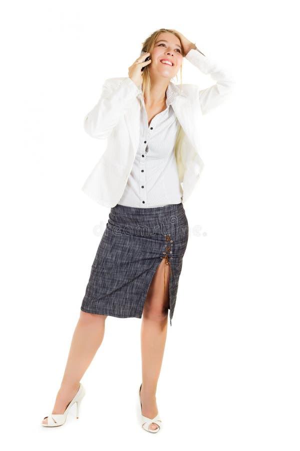Biznesowej kobiety telefonowanie fotografia stock