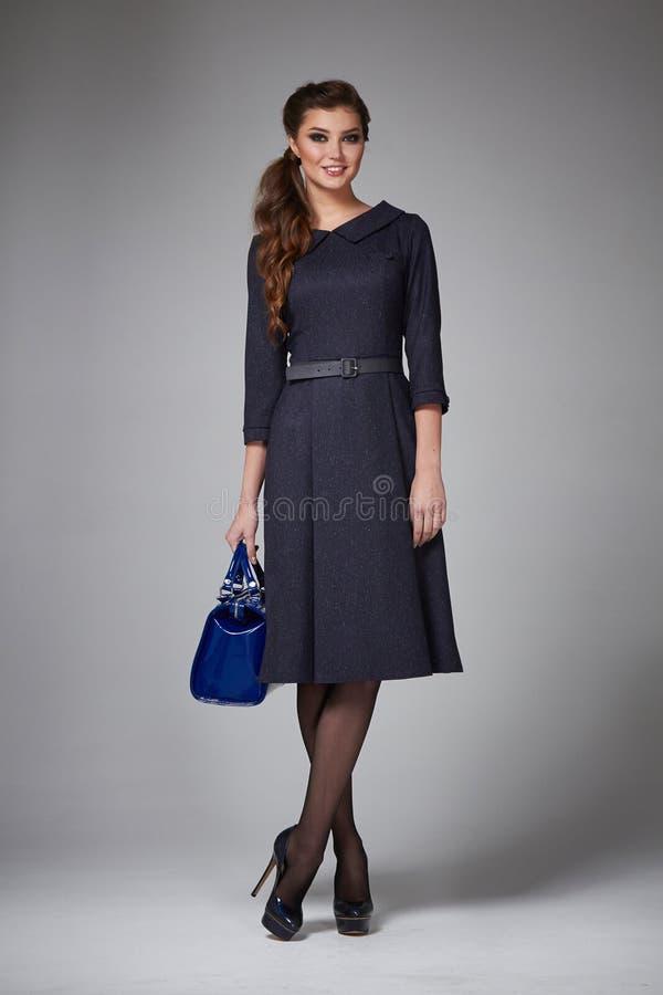 Biznesowej kobiety wieczór makeup odziewa dla spotkań i spacerów zdjęcie stock
