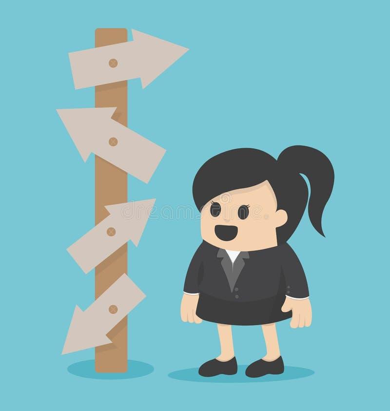 Biznesowej kobiety wybór royalty ilustracja