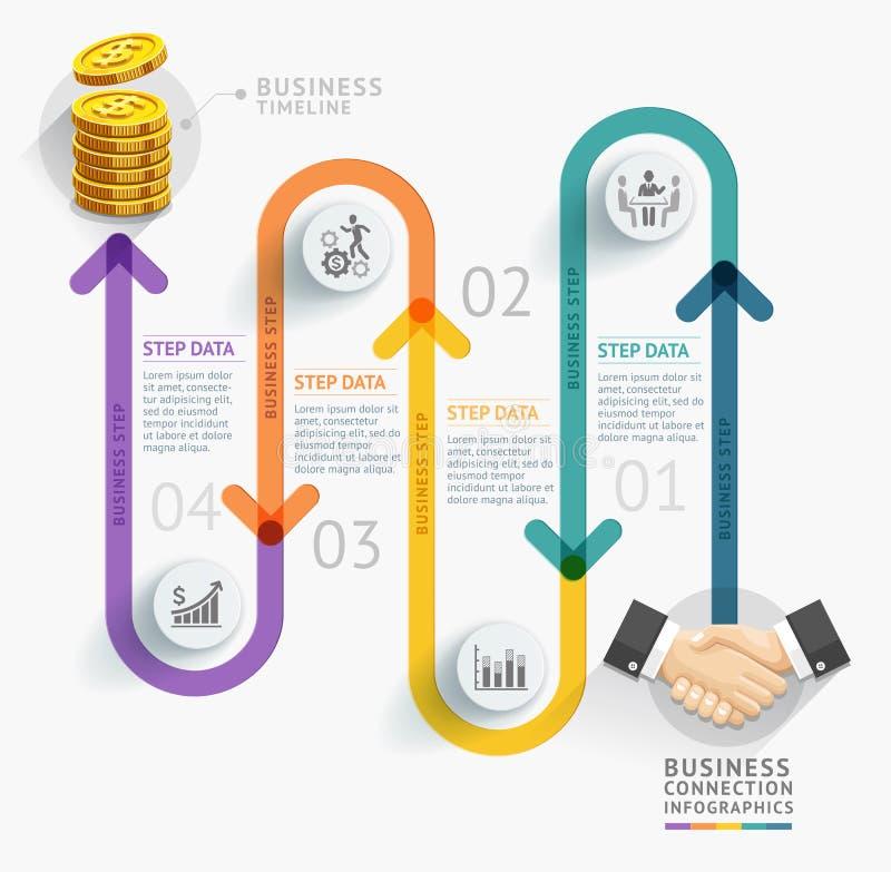 Biznesowej linii czasu infographic szablon ilustracja wektor