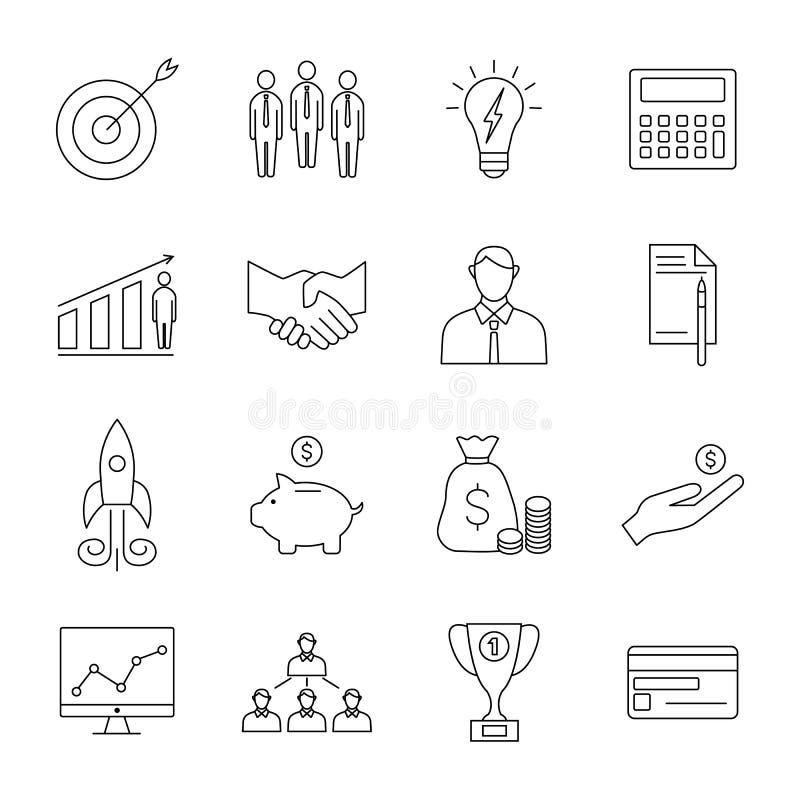 Biznesowej linii ikony ilustracji
