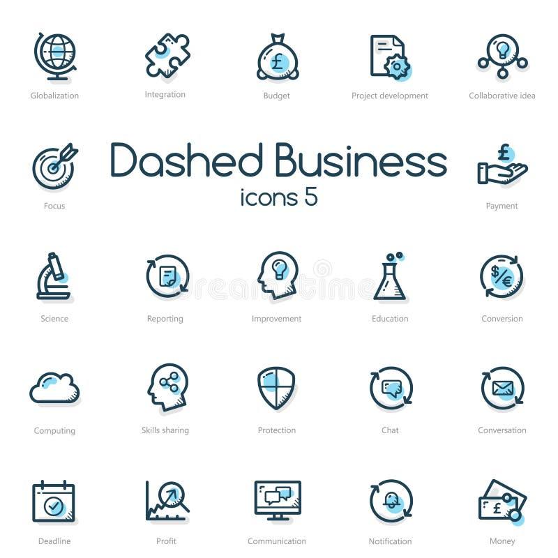 Biznesowej linii ikony Ustawiać ilustracja wektor