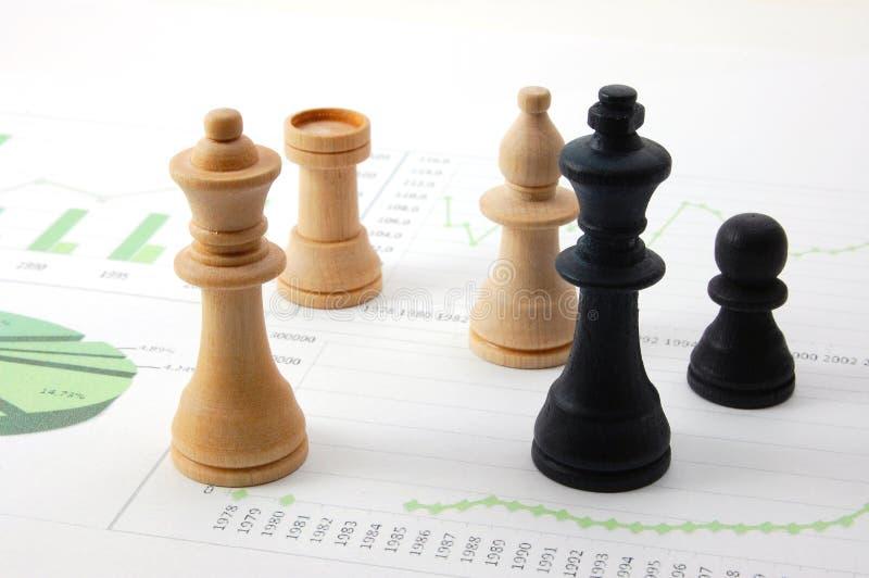 biznesowej mapy szachowy mężczyzna zdjęcia royalty free