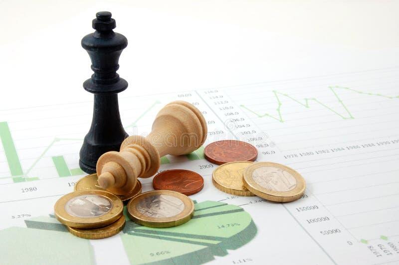 biznesowej mapy szachowy mężczyzna fotografia royalty free