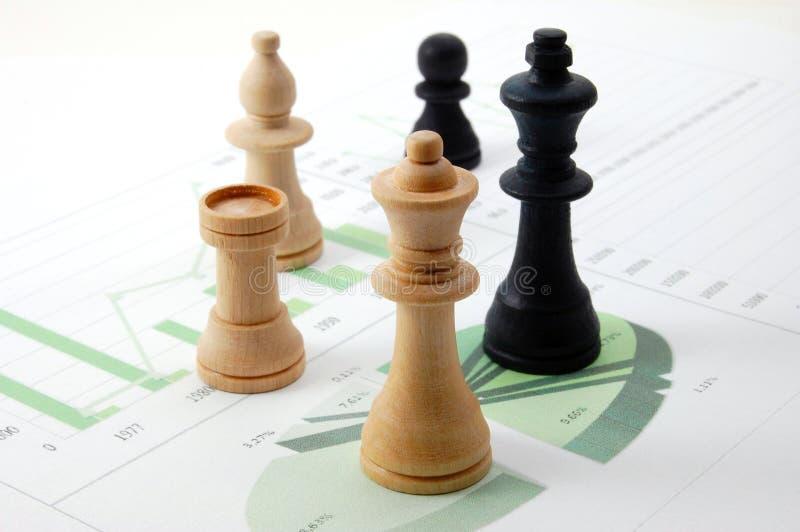 biznesowej mapy szachowy mężczyzna obraz royalty free