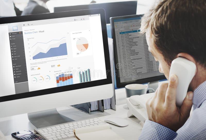 Biznesowej mapy Wizualnych grafika Raportowy pojęcie obrazy stock