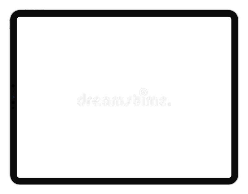 Biznesowej pastylki IPad Pro 12,9 styl na białym tle royalty ilustracja