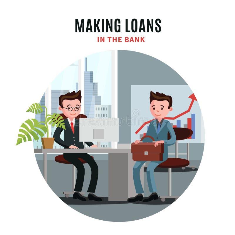 Biznesowej pożyczki szablon ilustracja wektor