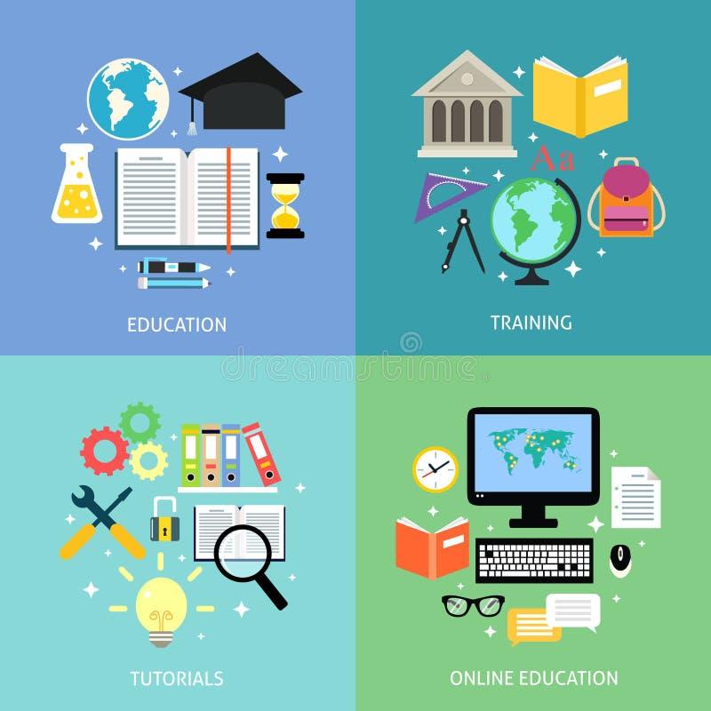biznesowej pojęcia edukaci odosobniony biel ilustracja wektor