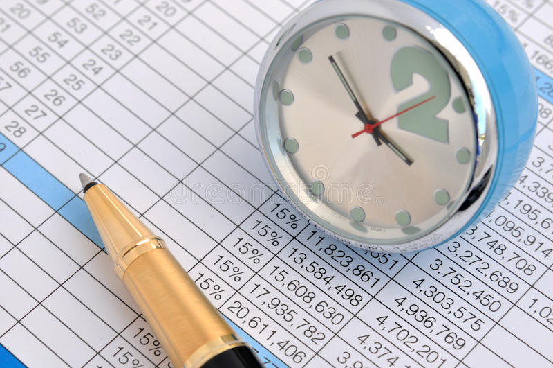 Biznesowi Analiza Dane Obraz Stock