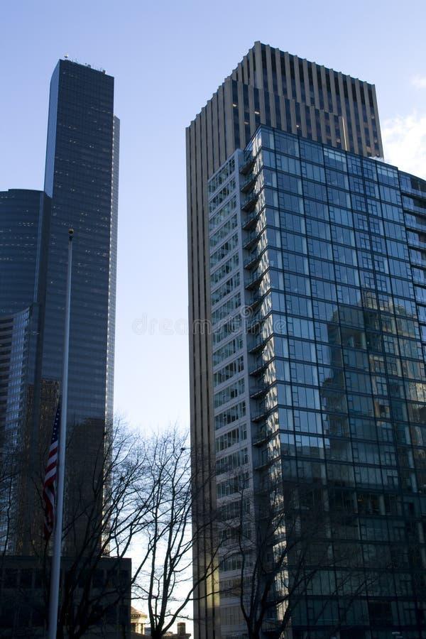 Biznesowi budynki w centrum zdjęcia stock