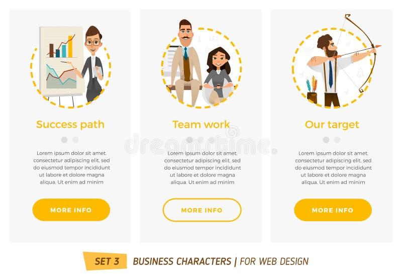 Biznesowi charaktery ustawiający ilustracji