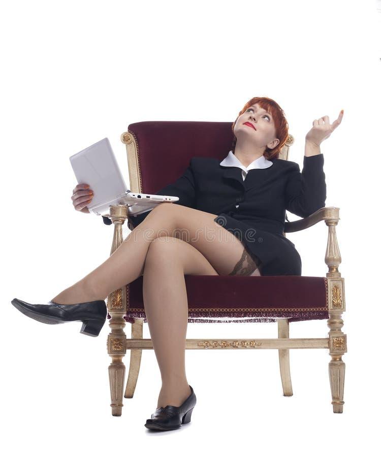 biznesowi czerwoni seksowni kostiumu kobiety potomstwa fotografia stock