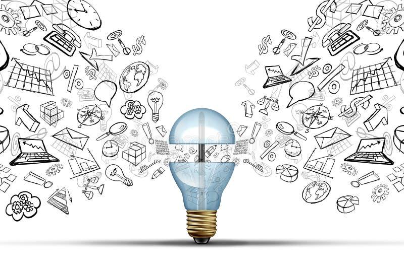 Biznesowi innowacja pomysły ilustracja wektor