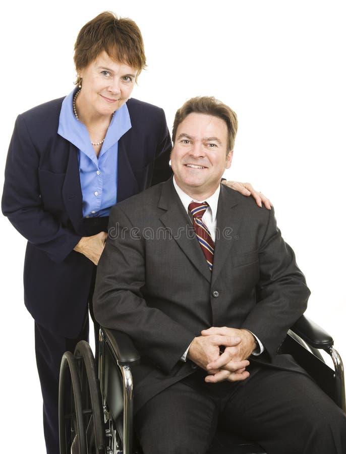 biznesowi inwalidzcy partnery obrazy stock