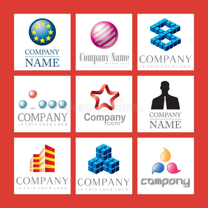 biznesowi logowie royalty ilustracja