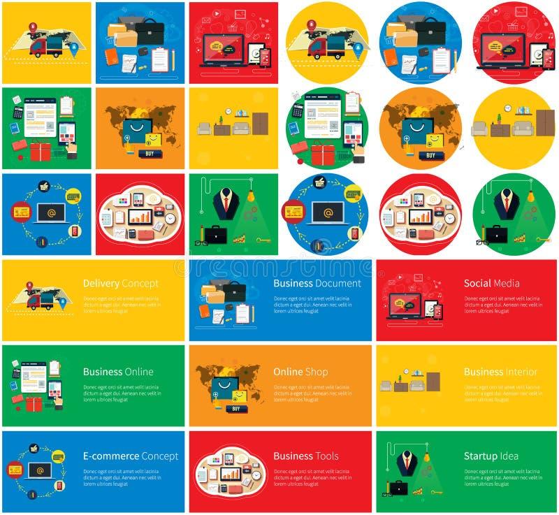 Biznesowi Online, Ogólnospołeczni środki, Doręczeniowy pojęcie royalty ilustracja