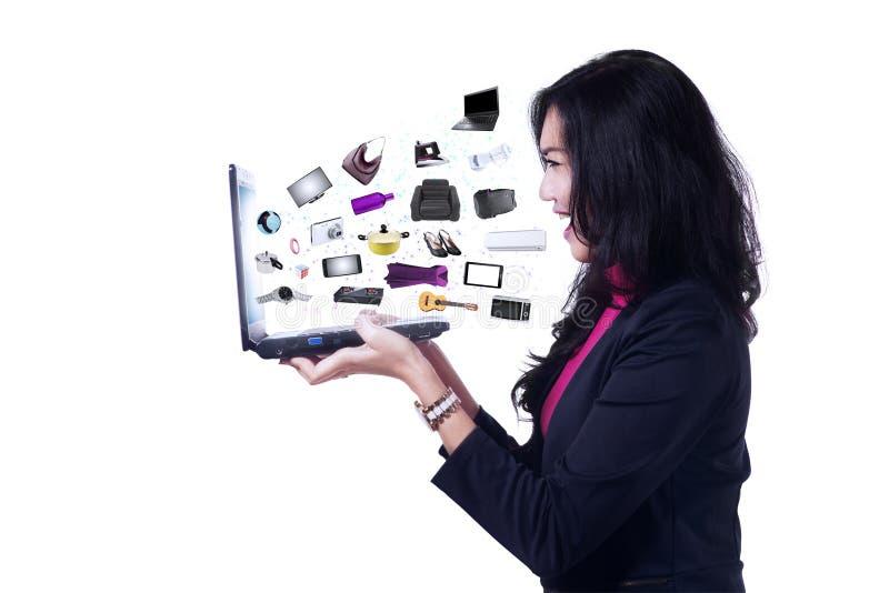 Biznesowi online produkty fotografia royalty free