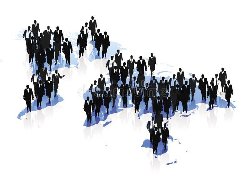 biznesowi pojęcia mapy ludzie światowi ilustracji