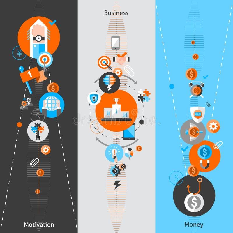 Biznesowi pojęcie sztandary ilustracja wektor