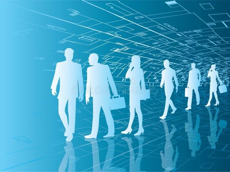 biznesowi przyszłościowi ludzie royalty ilustracja