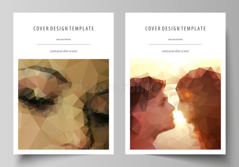 Biznesowi szablony dla broszurki, magazyn, ulotka Okładkowy projekta szablon, abstrakcjonistyczny wektorowy układ w A4 rozmiarze  royalty ilustracja