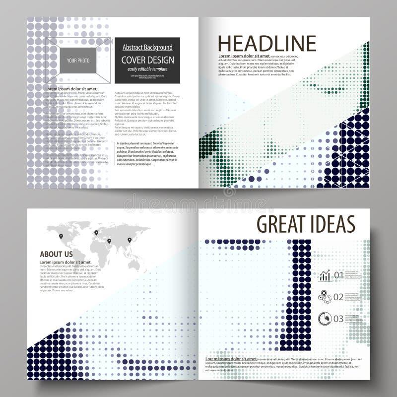 Biznesowi szablony dla kwadratowego projekta bi składają broszurkę, magazyn, ulotka Ulotki pokrywa, abstrakcjonistyczny wektorowy royalty ilustracja