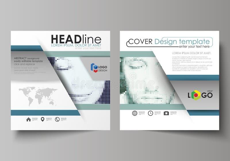 Biznesowi szablony dla kwadratowej projekt broszurki, magazyn, ulotka, broszura Ulotki pokrywa, abstrakcjonistyczny wektorowy ukł royalty ilustracja