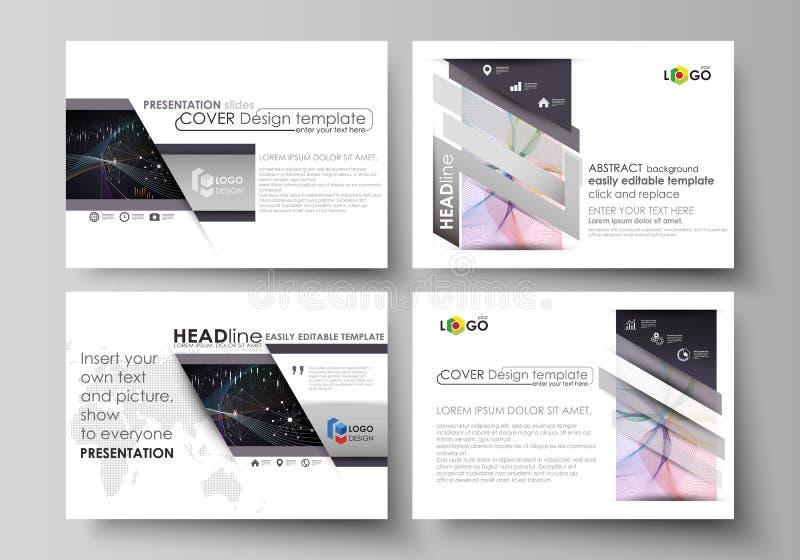 Biznesowi szablony dla prezentacj obruszeń Wektorowi układy Kolorowy abstrakcjonistyczny infographic tło w minimaliście ilustracja wektor