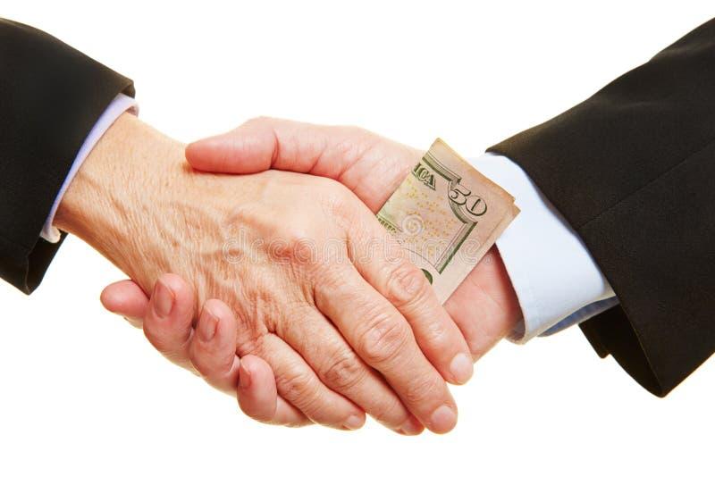 Biznesowy łapówkarstwo i korupcja obraz stock