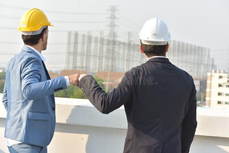 biznesowy ścinku współpraca zawierać ścieżka Pojęcie niezawodność partnerstwo i współpraca Biznes zdjęcie stock