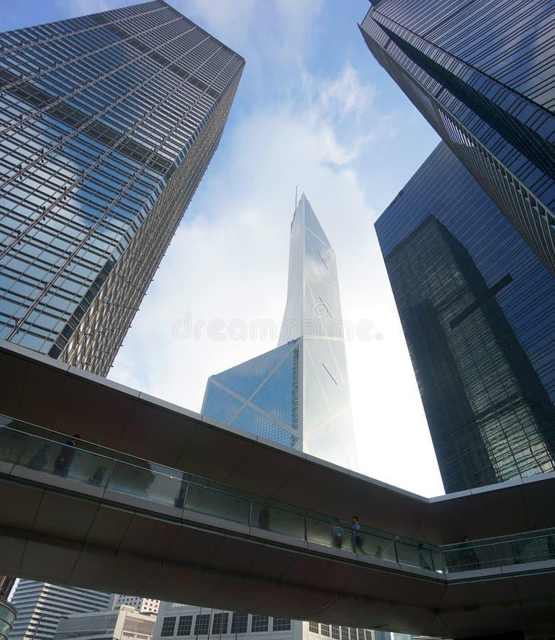 Biznesowy życie Hong Kong fotografia royalty free
