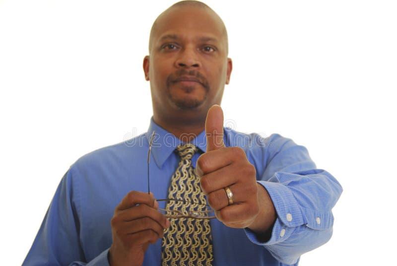biznesowy Amerykanin afrykańskiego pochodzenia mężczyzna obraz stock