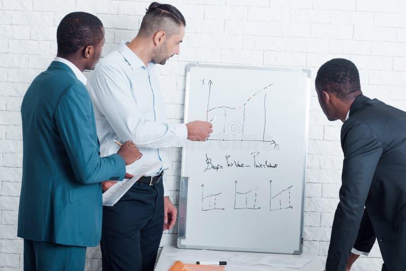 Biznesowy analitycznej notatki pomyślny biznesowy przyrost fotografia stock