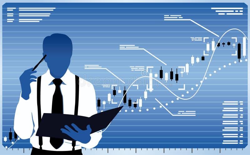 Biznesowy analityk ilustracja wektor