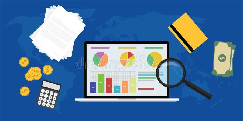 Biznesowy analityk ilustracji