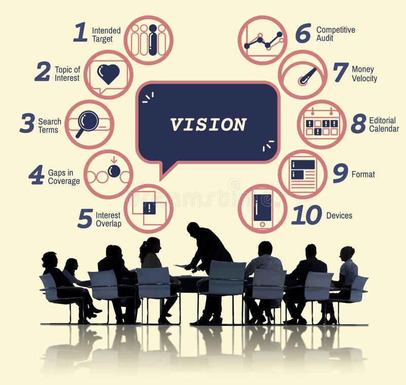 Biznesowy analityki strategii metod taktyk grafiki pojęcie zdjęcie royalty free