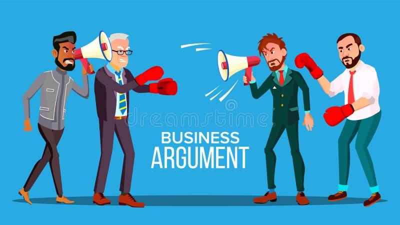 Biznesowy argument sieci sztandaru kreskówki wektoru szablon ilustracja wektor