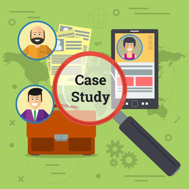 Biznesowy badanie przypadków trzy opcja royalty ilustracja