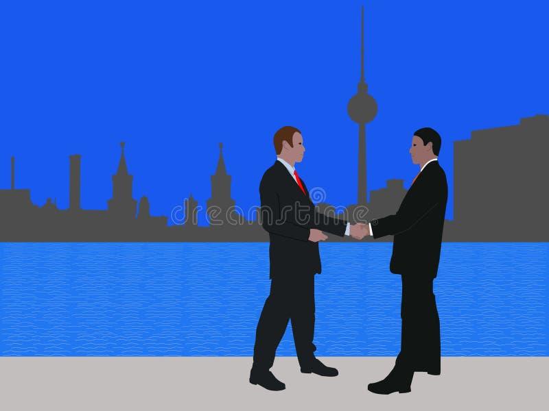 biznesowy Berlin spotkanie ilustracja wektor