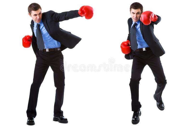 Biznesowy boks odizolowywający na bielu fotografia stock