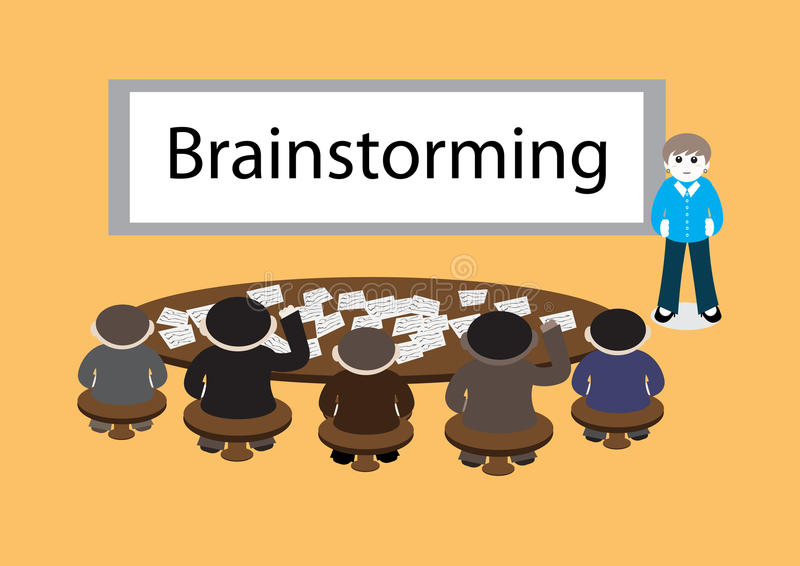 Biznesowy brainstorming royalty ilustracja