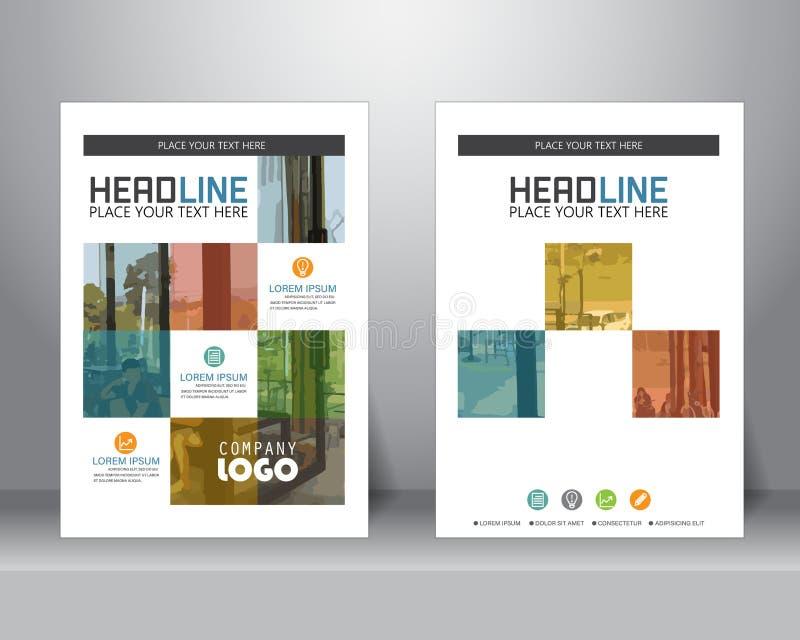 Biznesowy broszurka szablon, wektor royalty ilustracja