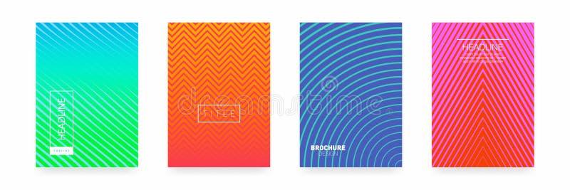 Biznesowy broszurki pokrywy projekt abstrakcjonistyczny geometryczny szablon Set minimalny pokrywa projekt royalty ilustracja