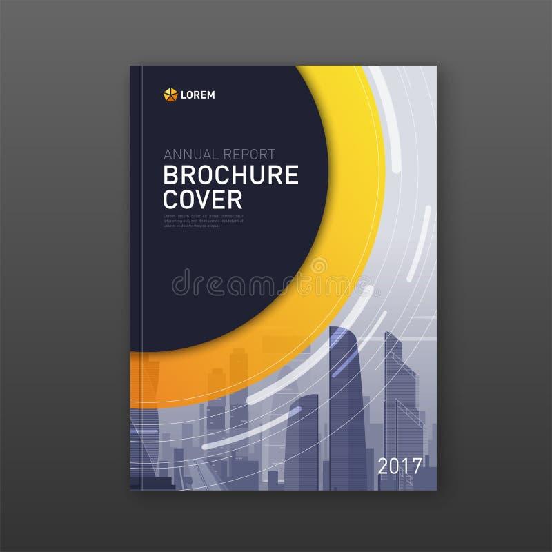 Biznesowy broszurki pokrywy projekta układ royalty ilustracja